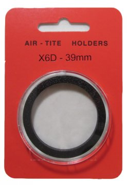 Air-Tite Coin Holder - X6D - 39 mm - For High Relief Coins
