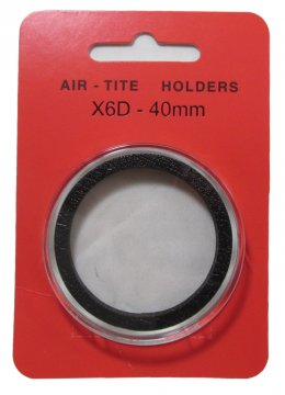 Air-Tite Coin Holders - X6D - 40 mm - For High Relief Coins