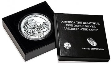 2010-P 5 oz Yosemite ATB Silver Coin - Special Finish