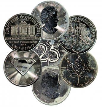 1 oz World Silver Coin - Random Design (Scruffy, Spotted)