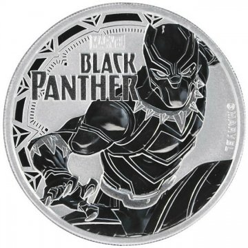 2018 1 oz Tuvalu Silver Marvel Series - Black Panther Coin - Gem BU