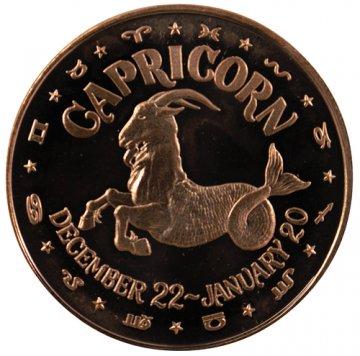 1 oz Capricorn Copper Round from the Zodiac Series