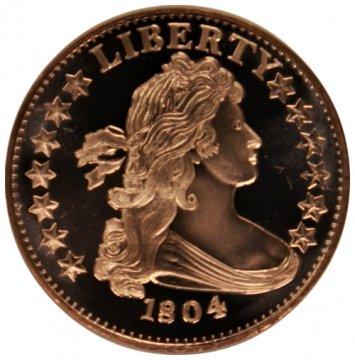 1 oz Copper Round - 1804 Dollar Design