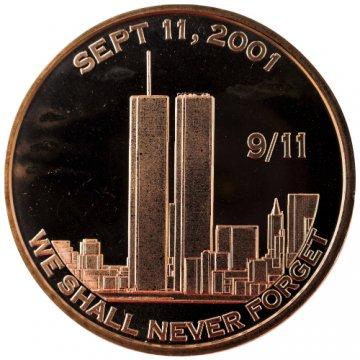 1 oz Copper Round - 9/11 We Shall Never Forget Design