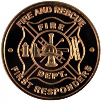 1 oz Copper Round - Fire Department Design