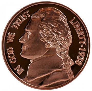 1 oz Jefferson Nickel Design Copper Round
