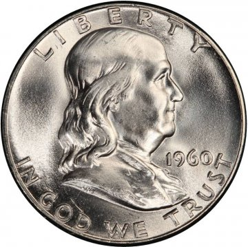 1960 Franklin Silver Half Dollar Coin - Choice BU