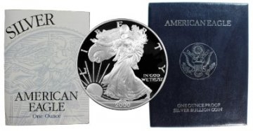2000-P 1 oz American Proof Silver Eagle Coin - Gem Proof