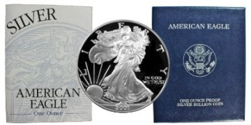 2001-W 1 oz American Proof Silver Eagle Coin - Gem Proof