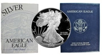 2002-W 1 oz American Proof Silver Eagle Coin - Gem Proof