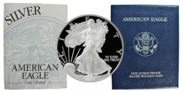 2003-W 1 oz American Proof Silver Eagle Coin - Gem Proof