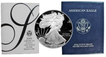 2005-W 1 oz American Proof Silver Eagle Coin - Gem Proof