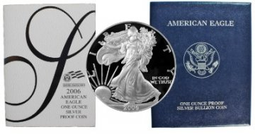 2006-W 1 oz American Proof Silver Eagle Coin - Gem Proof