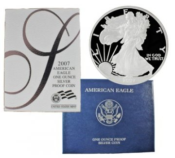 2007-W 1 oz American Proof Silver Eagle Coin - Gem Proof