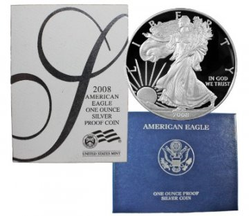2008-W 1 oz American Proof Silver Eagle Coin - Gem Proof