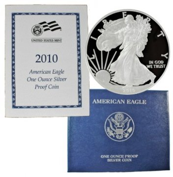 2010-W 1 oz American Proof Silver Eagle Coin - Gem Proof