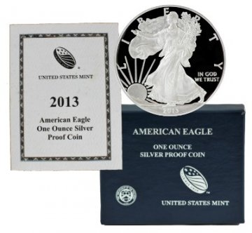 2013-W 1 oz American Proof Silver Eagle Coin - Gem Proof