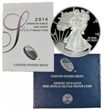 2014-W 1 oz American Proof Silver Eagle Coin - Gem Proof