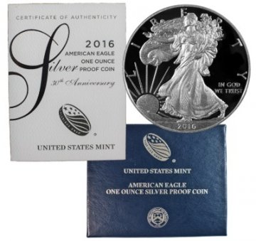 2016-W 1 oz American Proof Silver Eagle Coin - Gem Proof