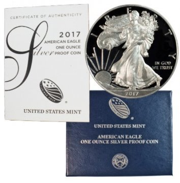 2017-W 1 oz American Proof Silver Eagle Coin - Gem Proof