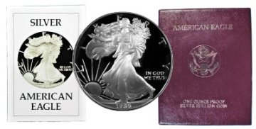 1986-S 1 oz American Proof Silver Eagle Coin - Gem Proof