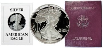 1987-S 1 oz American Proof Silver Eagle Coin - Gem Proof