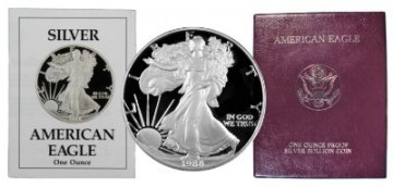 1988-S 1 oz American Proof Silver Eagle Coin - Gem Proof