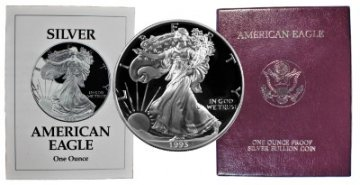 1993-P 1 oz American Proof Silver Eagle Coin - Gem Proof