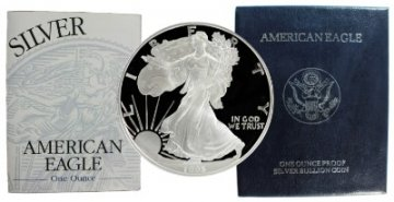 1995-P 1 oz American Proof Silver Eagle Coin - Gem Proof