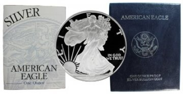 1996-P 1 oz American Proof Silver Eagle Coin - Gem Proof