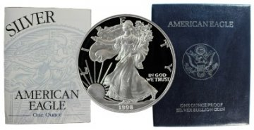 1998-P 1 oz American Proof Silver Eagle Coin - Gem Proof
