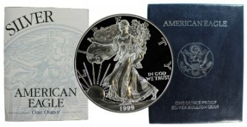 1999-P 1 oz American Proof Silver Eagle Coin - Gem Proof