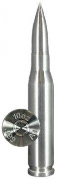 10 oz Silver Bullet - .50 Caliber BMG Design