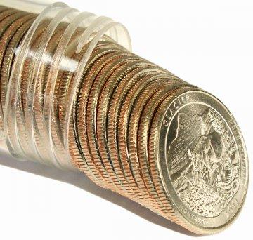 2011 Glacier P or D Mint Quarter Rolls