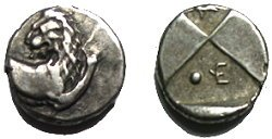 Ancient Greek Silver Hemidrachm From Chersonesos