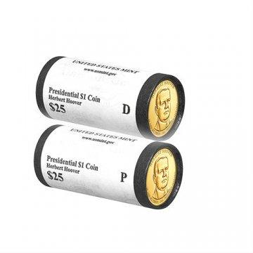 2014 Herbert Hoover P or D Mint Presidential Dollar Rolls