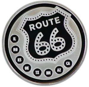 One Ounce Route 66 Silver Round