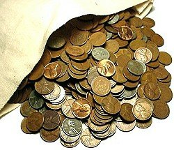 1909-1958 5,000-Coin Lincoln Wheat Cent Coin Bags