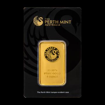Perth Mint 1 oz Gold Bar - (In Assay)