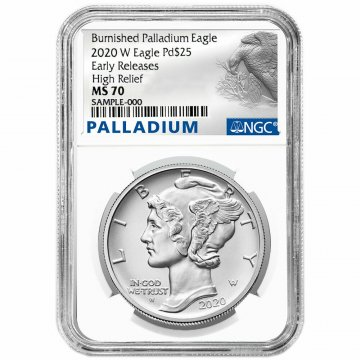 2020-W 1 oz Burnished American Palladium Eagle - NGC MS-70 Early Release