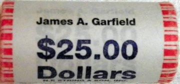 2011 25-Coin James Garfield Presidential Dollar Rolls - P or D Mint - BU