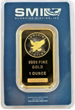 Sunshine Minting 1 oz Gold Bar - New Design (In TEP Packaging w/ Mint Mark SI™)