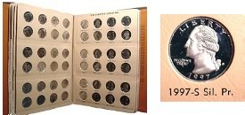 1965-1998 103-Coin Set of Washington Quarters - BU - w/ Proofs