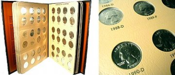 1965-1998 63-Coin Set of Washington Quarters - BU
