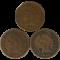 Indian Head Cent 3-Coin Mint Error Lot