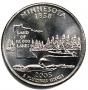2005 Minnesota State Quarter Coin - P or D Mint - BU