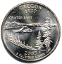 2005 Oregon State Quarter Coin - P or D Mint - BU