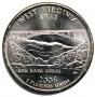 2005 West Virginia State Quarter Coin - P or D Mint - BU