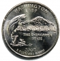 2007 Washington State Quarter Coin - P or D Mint - BU