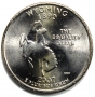 2007 Wyoming State Quarter Coin - P or D Mint - BU